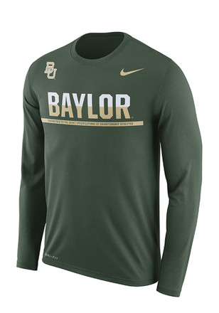 Nike Baylor Mens Green Staff Sideline Performance Tee