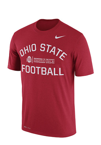 Nike ohio state buckeyes mens red lift short sleeve t for Ohio state shirts mens