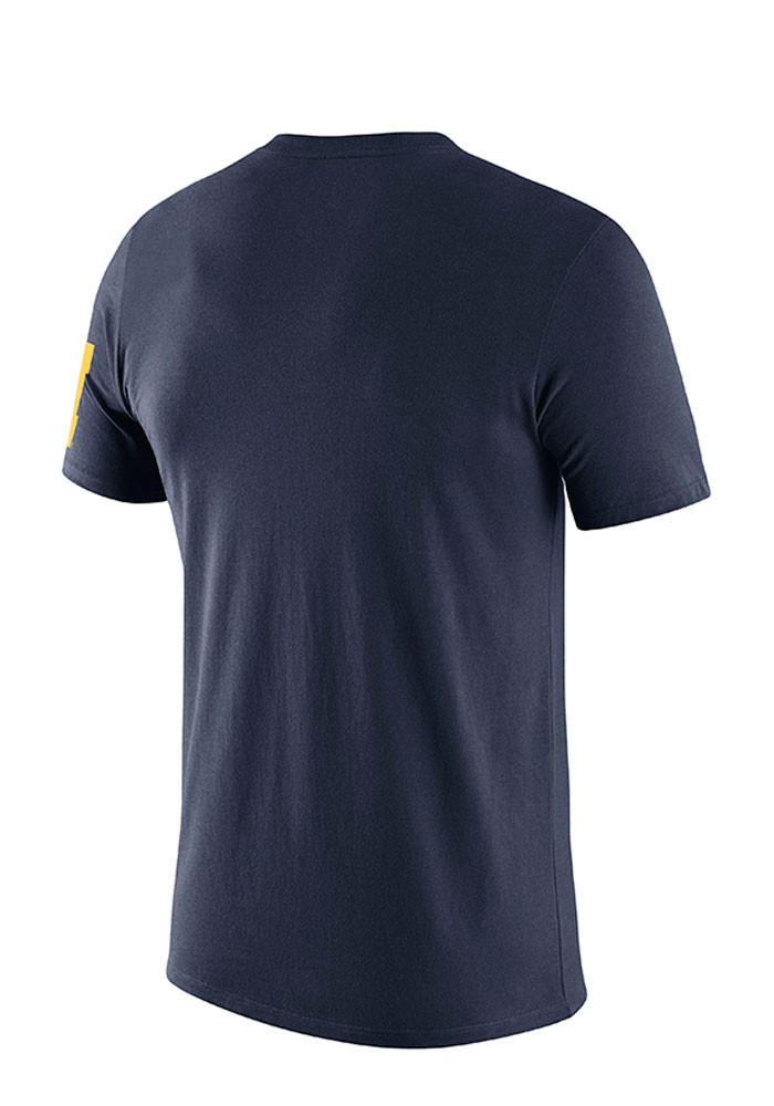 Nike michigan wolverines mens navy blue campus elements for Navy blue and white nike shirt