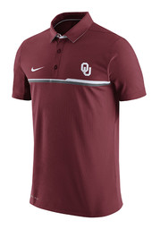 Nike Oklahoma Mens Red Elite Short Sleeve Polo Shirt