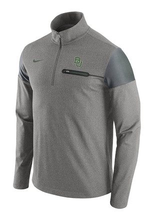 Nike Baylor Bears Mens Grey Elite Coaches 1/4 Zip Pullover