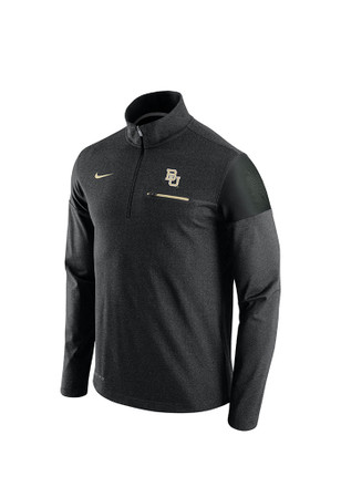 Nike Baylor Bears Mens Black Elite Coaches 1/4 Zip Pullover