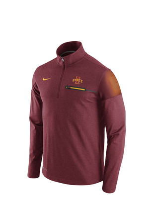 Nike Cyclones Mens Red Elite Coaches 1/4 Zip Performance Pullover