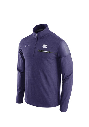 Nike K-State Wildcats Mens Purple Elite Coaches 1/4 Zip Pullover