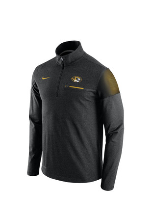 Nike Mizzou Tigers Mens Black Elite Coaches 1/4 Zip Performance Pullover