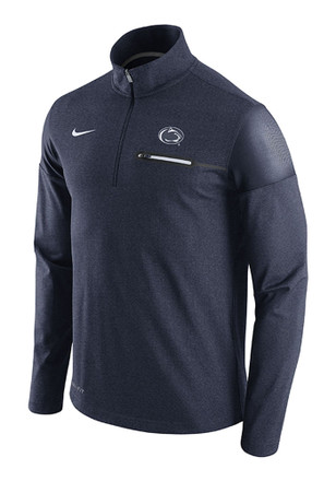 Nike Penn State Nittany Lions Mens Navy Blue Player Top 1/4 Zip Pullover