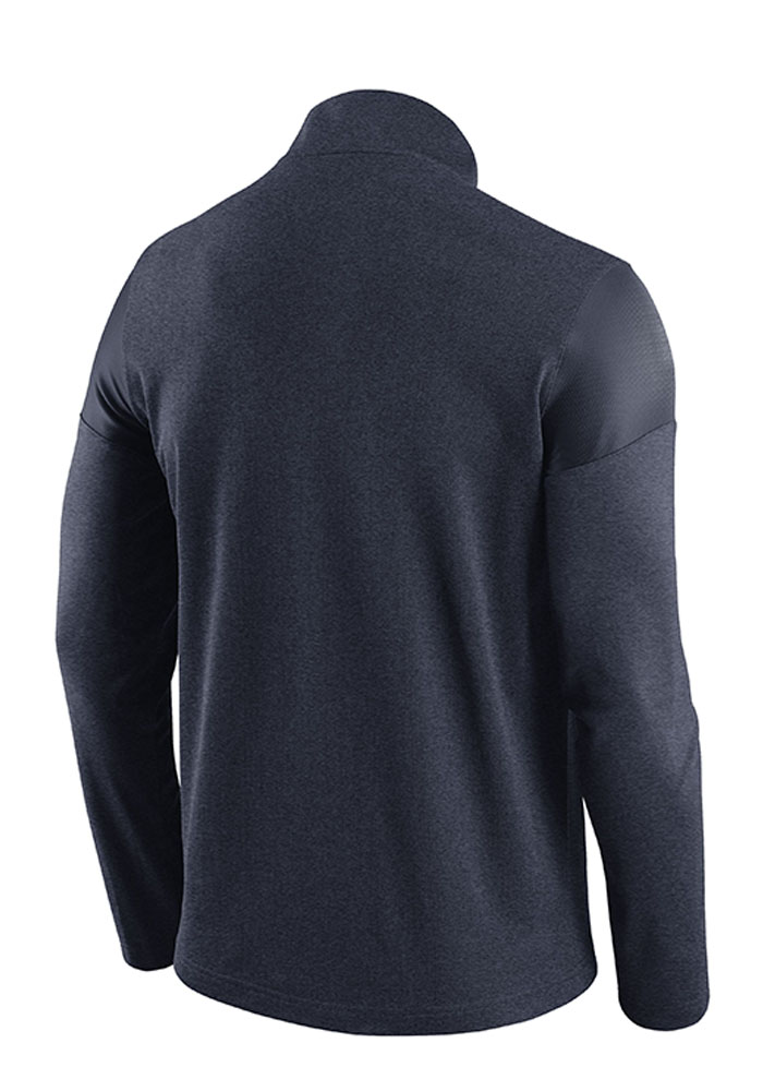 Nike Penn State Nittany Lions Mens Navy Blue Player Top Long Sleeve 1/4 Zip Pullover - Image 2