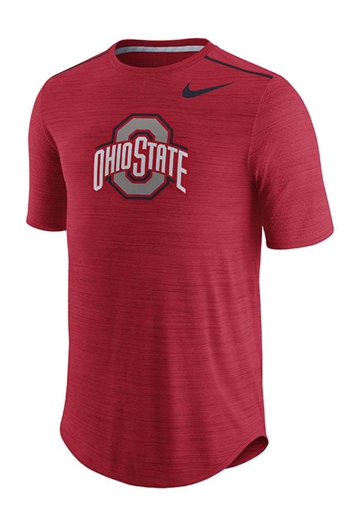 Nike ohio state buckeyes mens red player top short sleeve for Ohio state shirts mens