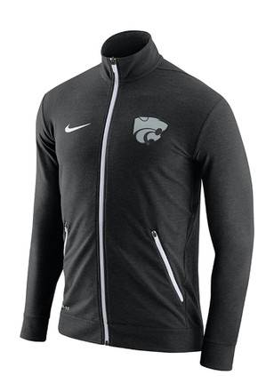 Nike K-State Wildcats Mens Black Elite Players Light Weight Jacket