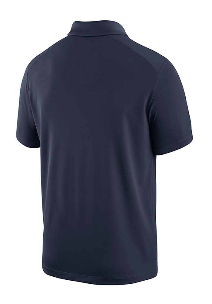 Nike West Virginia Mountaineers Mens Navy Blue Team 1st Short Sleeve Polo - Image 2