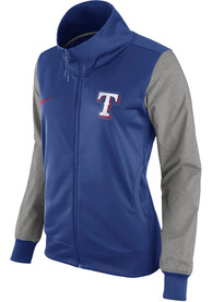 Texas Rangers Womens Nike Iconic Baseball Track Jacket - Blue