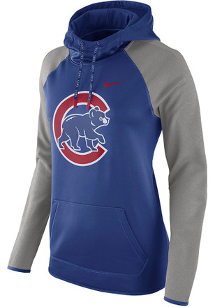 Nike Chicago Cubs Womens Blue Therma Hoodie