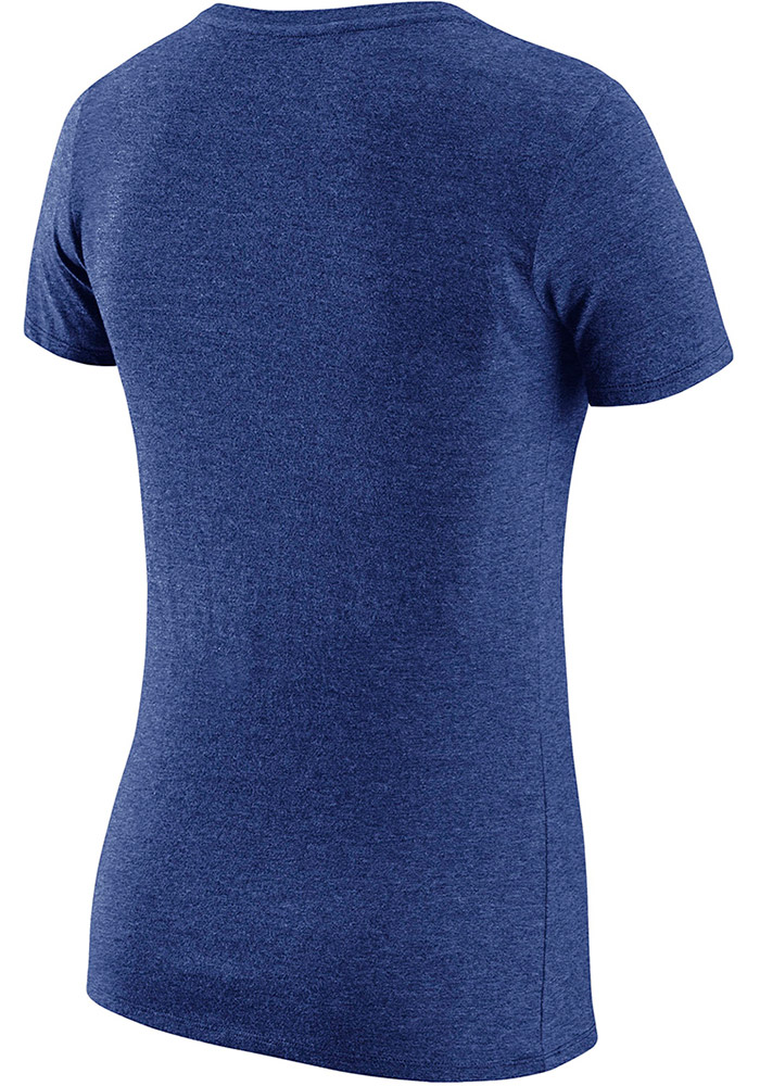 Nike Texas Rangers Womens Red Triblend Practice 1.7 V-Neck T-Shirt - Image 2