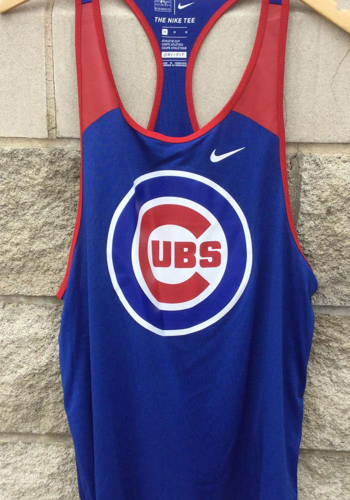 Nike Chicago Cubs Womens Blue Legend Wordmark 1.7 Tank Top - Image 3