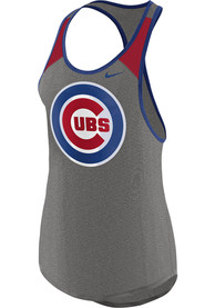Chicago Cubs Womens Nike Legend Wordmark 1.7 Tank Top - Grey