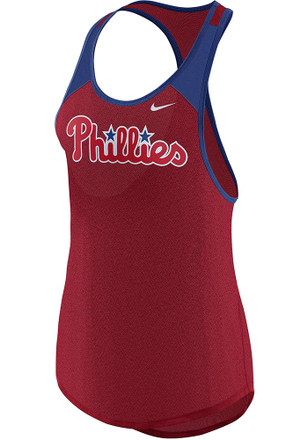 Nike Philadelphia Phillies Womens Red Legend Wordmark Tank Top