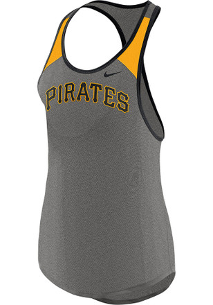 Nike Pittsburgh Pirates Womens Grey Legend Wordmark Tank Top