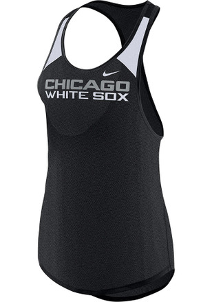 Nike Chicago White Sox Womens Black Legend Wordmark Tank Top
