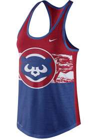 Chicago Cubs Womens Nike Dri-Blend Cooperstown Tank Top - Blue