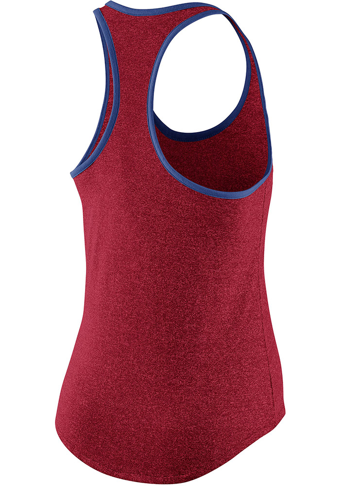 Nike Chicago Cubs Womens Red Marled Racerback Tank Top - Image 2