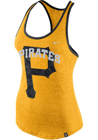 online retailer 4026a aa1f1 Nike Pittsburgh Pirates Womens Gold Marled Racerback Tank Top