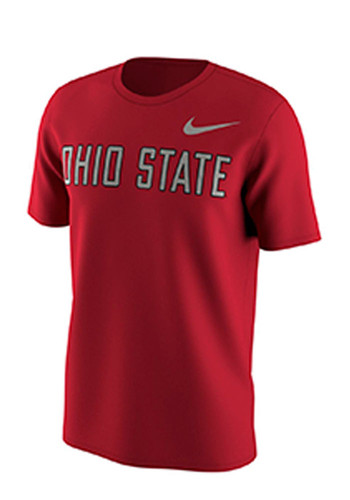 Nike ohio state buckeyes mens red slide short sleeve t for Ohio state shirts mens