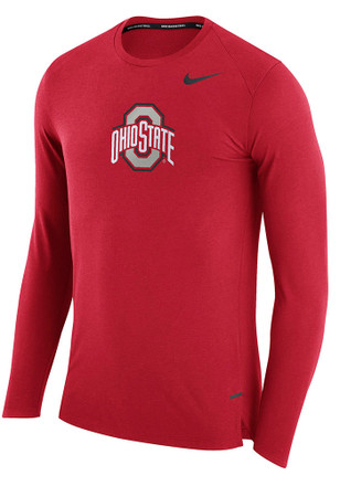 Nike The Ohio State University Mens Red March Performance Tee