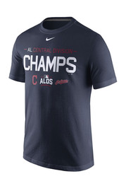 Nike Cleveland Indians Mens Navy Blue Generic Division Tee