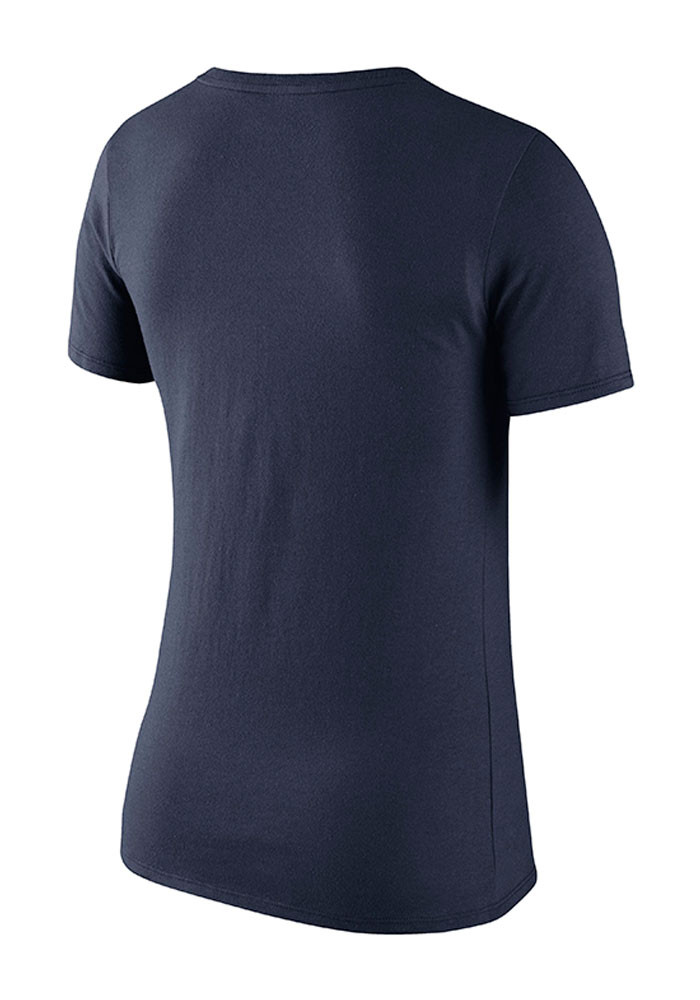 Nike pitt panthers womens navy blue logo scoop t shirt for Navy blue and white nike shirt