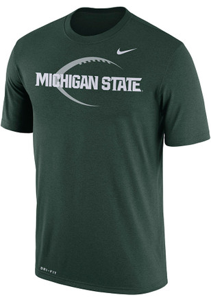 Nike Michigan State Spartans Mens Green Icon Legend Tee