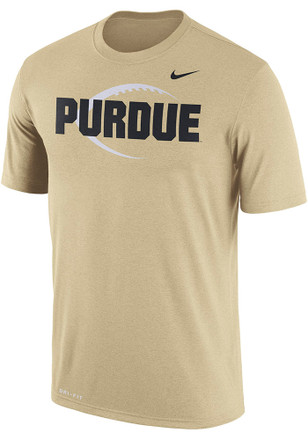 Nike Purdue Boilermakers Mens Gold Icon Legend Tee