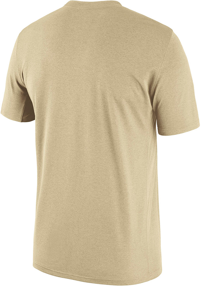 Nike Purdue Boilermakers Gold Icon Legend Short Sleeve T Shirt - Image 2