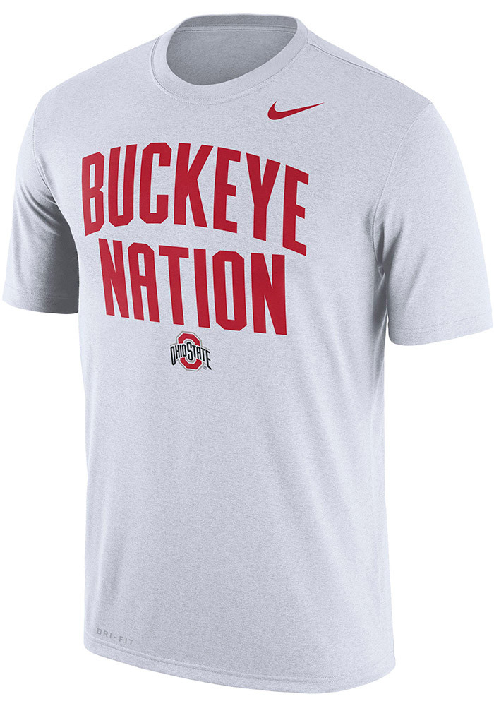 Nike ohio state buckeyes mens white local legend short for Ohio state shirts mens