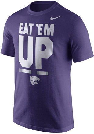 Nike K-State Wildcats Mens Purple Local Verbiage Tee