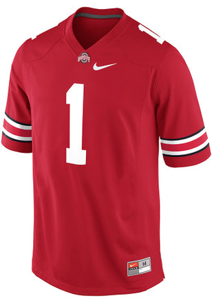 Nike Ohio State Buckeyes Mens Red Replica Jersey