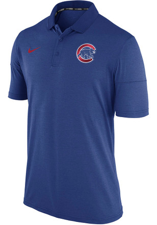 Nike Chicago Cubs Mens Blue MLB Short Sleeve Polo Shirt