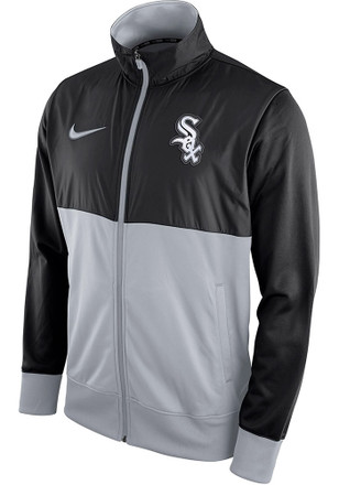 Nike White Sox Mens Black MLB FZ Track Jacket