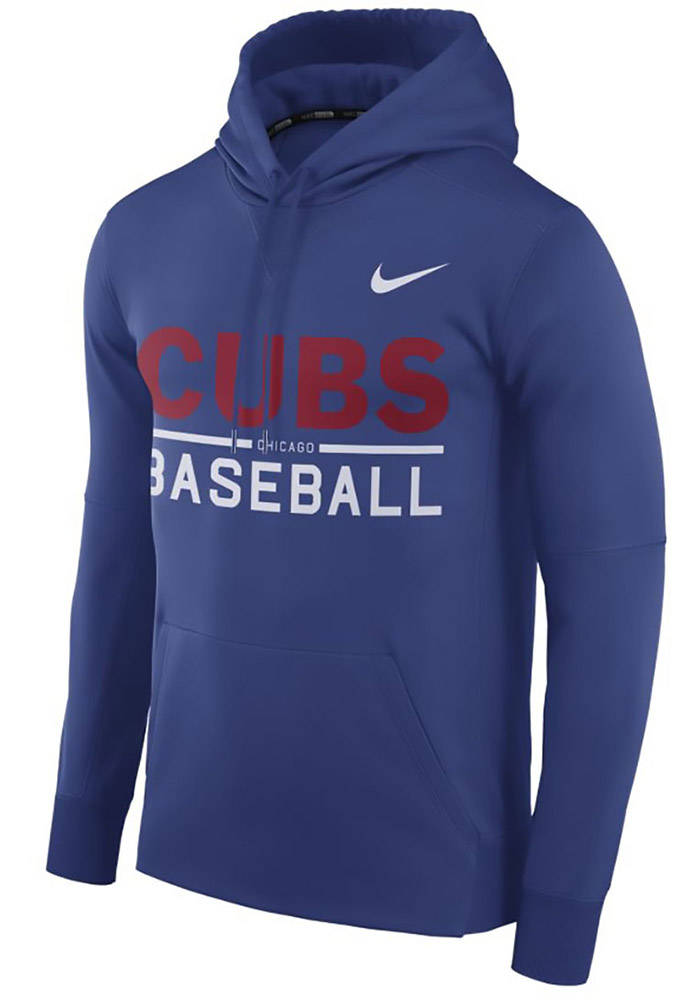 Nike Chicago Cubs Mens Blue Therma Hood - Image 1