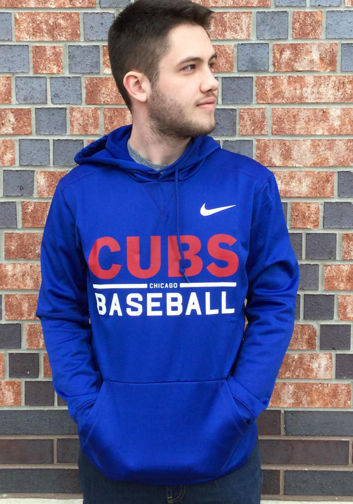 Nike Chicago Cubs Mens Blue Therma Hood - Image 2