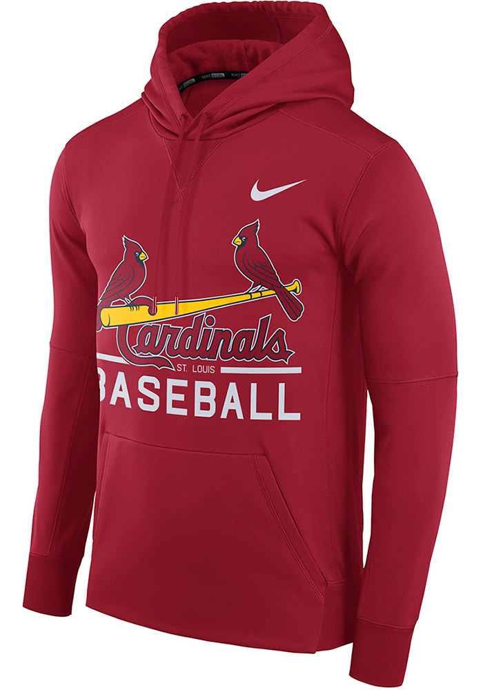 Nike St Louis Cardinals Mens Therma Hood