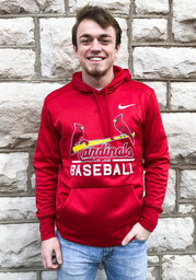St Louis Cardinals Nike Therma Hood - Red
