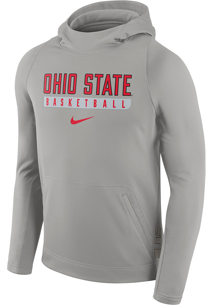 Nike Ohio State Buckeyes Mens Grey Performance Hood, Grey, 100% POLYESTER, Size M