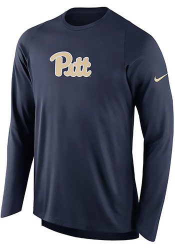 Nike pitt panthers mens navy blue elite shooter long for Navy blue and white nike shirt