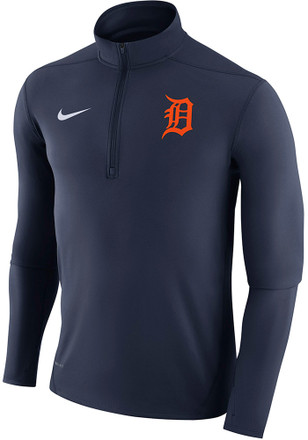 Nike Detroit Tigers Mens Navy Blue Dry Element 1/4 Zip Pullover