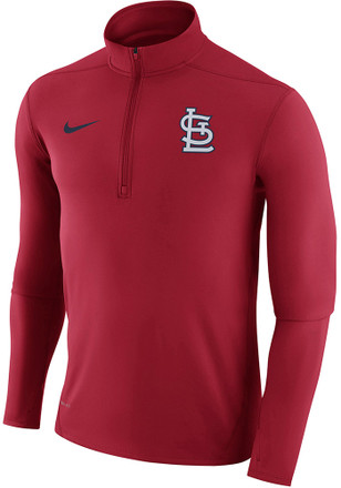 Nike St Louis Cardinals Mens Red Dry Element 1/4 Zip Pullover