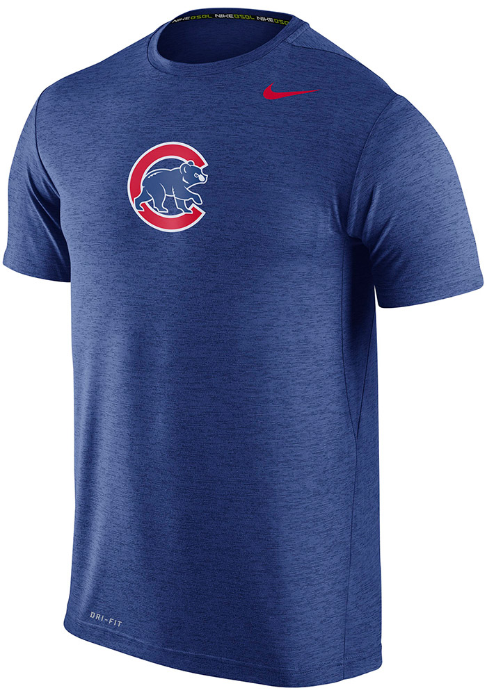new products b6053 a1502 Nike Chicago Cubs Blue GM Touch Short Sleeve T Shirt