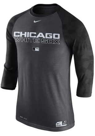 Nike White Sox Mens Grey Raglan 1.7 Performance Tee
