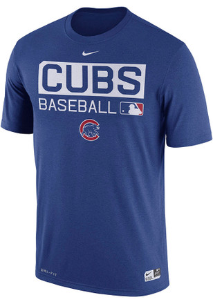 Nike Chicago Cubs Mens Blue Team Issue 1.7 Performance Tee