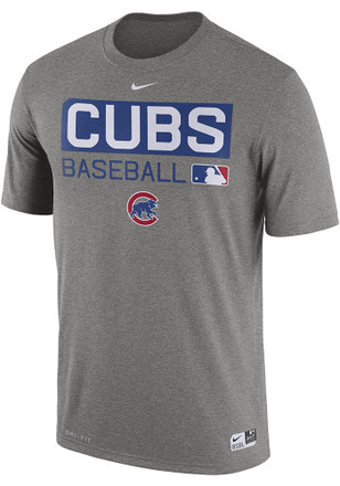 Nike Chicago Cubs Mens Grey Team Issue 1.7 Performance Tee