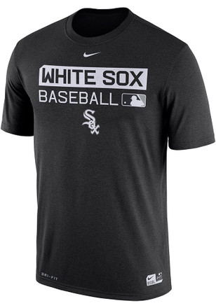 Nike White Sox Mens Black Team Issue 1.7 Performance Tee